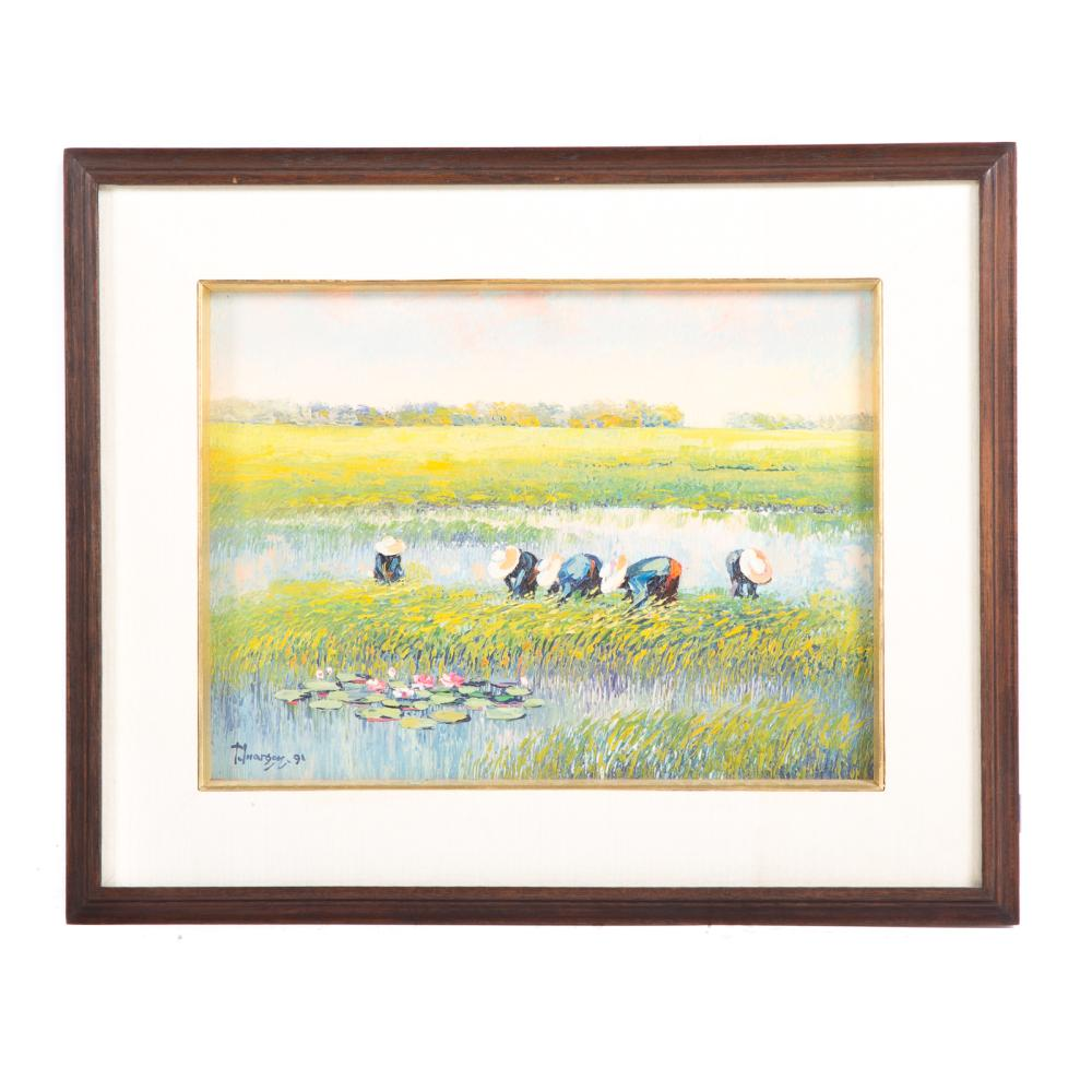 Tawon Inagron. Workers in a Rice Paddy