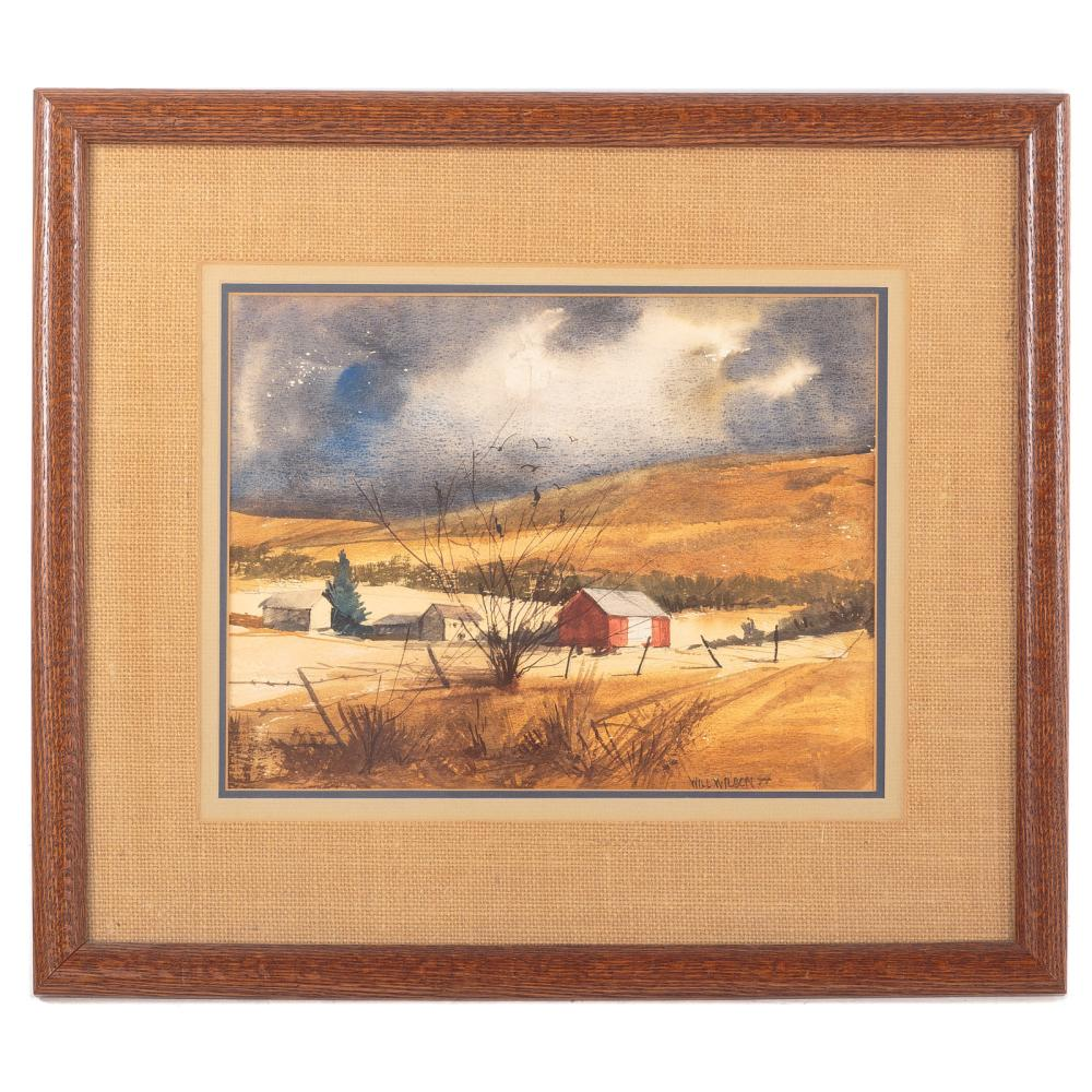Will Wilson. Two Framed Watercolors