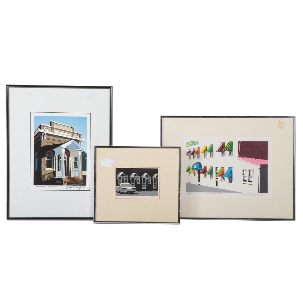 Joseph Craig English. Three Framed Serigraphs