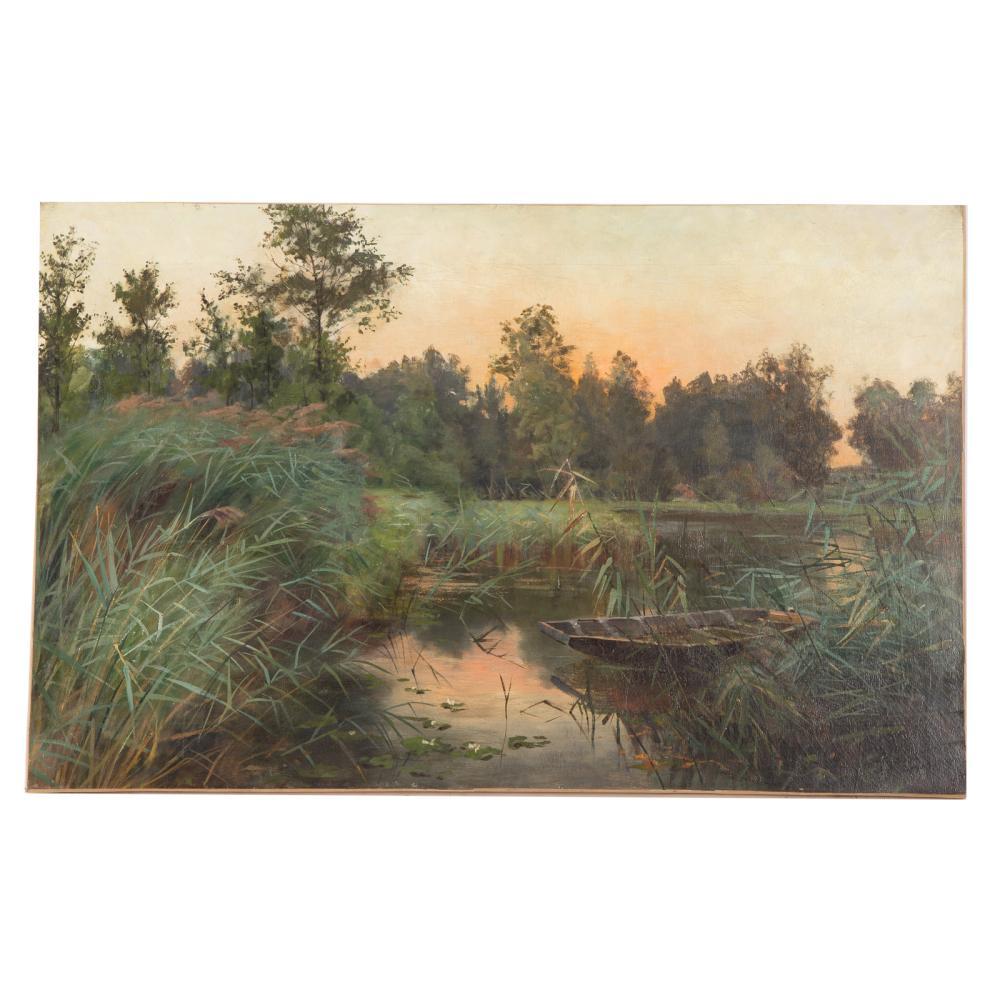 Henri Franck. Along a Marshbank