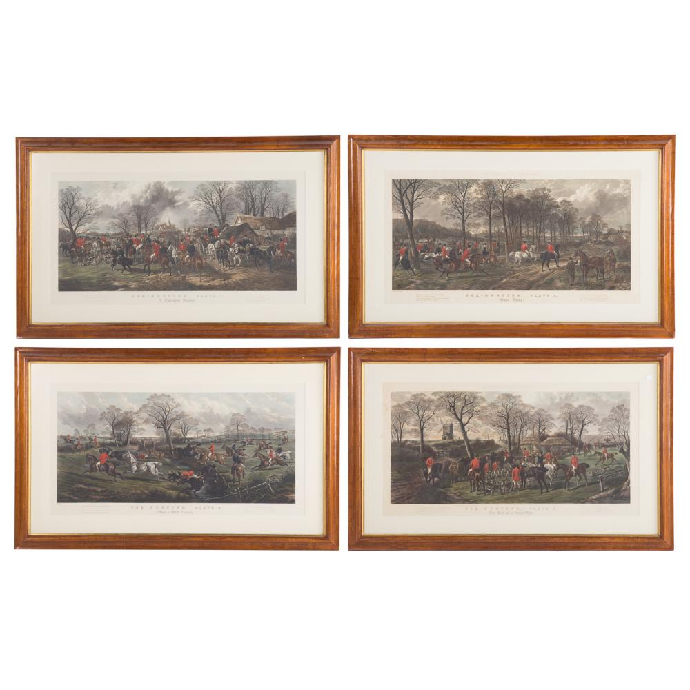 William Summers. Four Hunt Themed Engravings