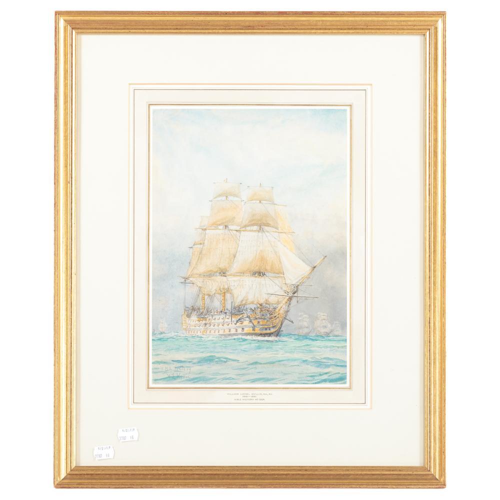 """William Lionel Wyllie. """"H.M.S. Victory at Sea"""""""