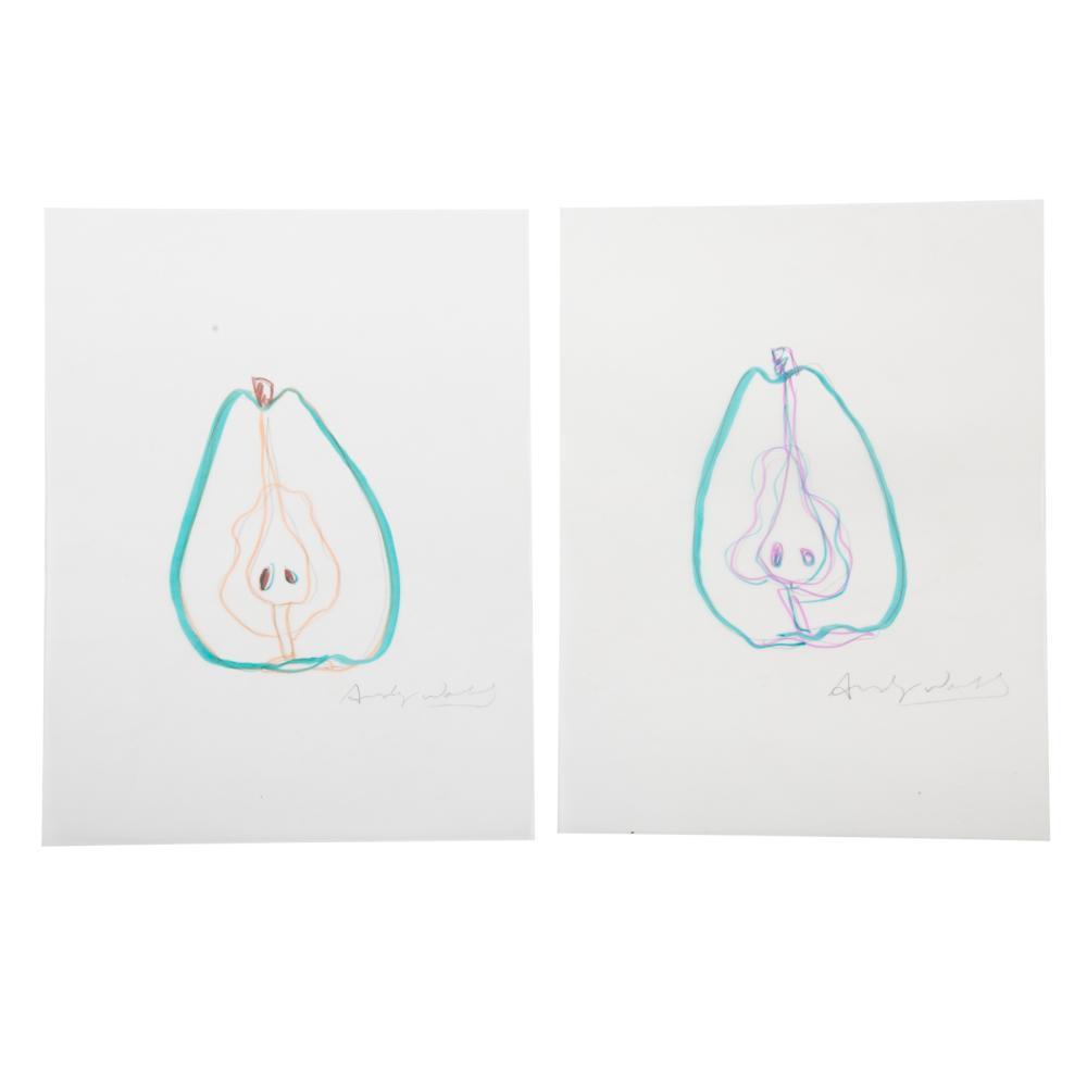 Andy Warhol. Pair of Pears II (Green)