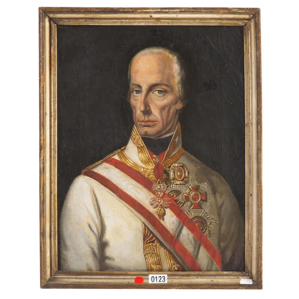 19th c portrait of archduke charles ludwig oil for Alex cooper real estate auctions