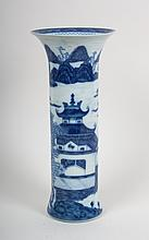 Mottahedeh Chinese Export style trumpet vase
