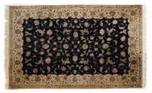 Indo Tabriz rug, approx. 4 x 6.2