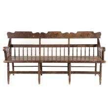 American painted Windsor bench