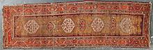 Antique Karabaugh runner, approx. 3.4 x 10.3