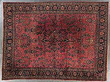 Antique Sarouk carpet, approx. 9.4 x 12.5