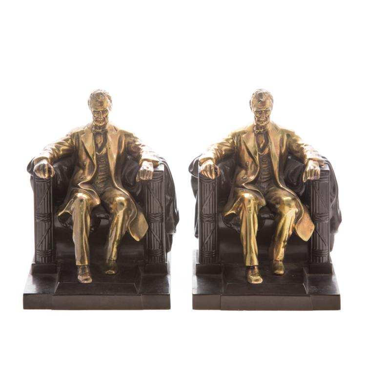 Philadelphia mfg co lincoln bookends for Alex cooper real estate auctions