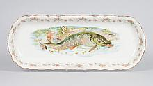 French porcelain fish platter