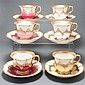 Six Meissen porcelain cups and saucers