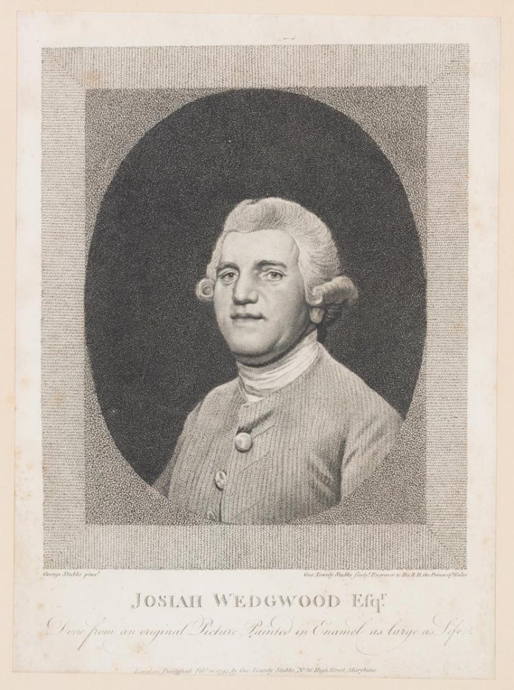 After George Stubbs Josiah Wedgwood Engraving