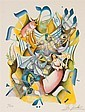 Ari Gradus, Israeli, b. 1943, Celebration, color lithograph, ed. 131/295, 15 x 11 in., framed, Ari Gradus, Click for value