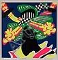 Ushio Shinohara, Japanese, b. 1932, 'Kanzashi', color screenprint, ed. 26/100, 11 3/4 x 11 3/4 in., framed, Ushio Shinohara, Click for value