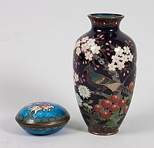 Two Japanese cloisonne enamel objects