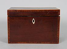 George III mahogany tea caddy