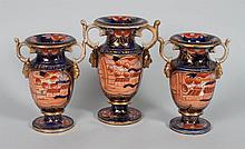 English china three-piece garniture