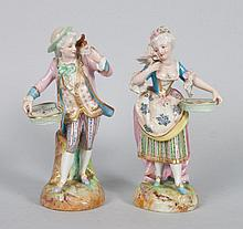 Pair of French porcelain figurines