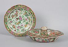 Two Chinese Export Famille Rose porcelain items