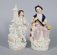 Two Staffordshire earthenware figural groups