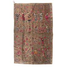 Chinese silk figural tapestry