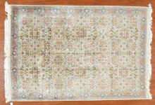 Silk Turkish or Chinese rug, approx. 6.10 x 8.5
