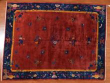 Antique Chinese Nichols carpet, approx. 8.9 x 11.1