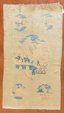 Peking pictorial rug, approx. 3.10 x 6.10