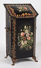 Victorian style toleware kindling bin