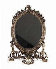 Rococo style bronze dresser mirror