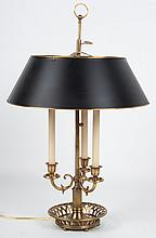 French style brass bouillotte lamp