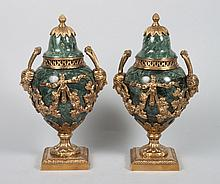 Pair of Louis XVI style urns