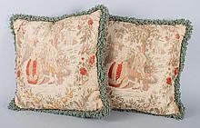 Pair of decorator throw pillows