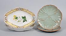 Pair of Chelsea House china  bowls & floral plates