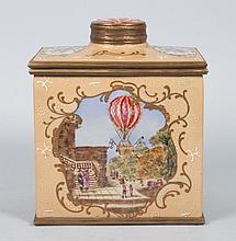 Georgian style porcelain tea caddy