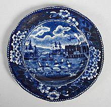 Ralph Clews Blue Staffordshire cup plate