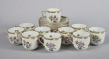 19 Herend  porcelain cups and saucers