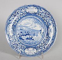 Enoch Wood Staffordshire blue transfer plate