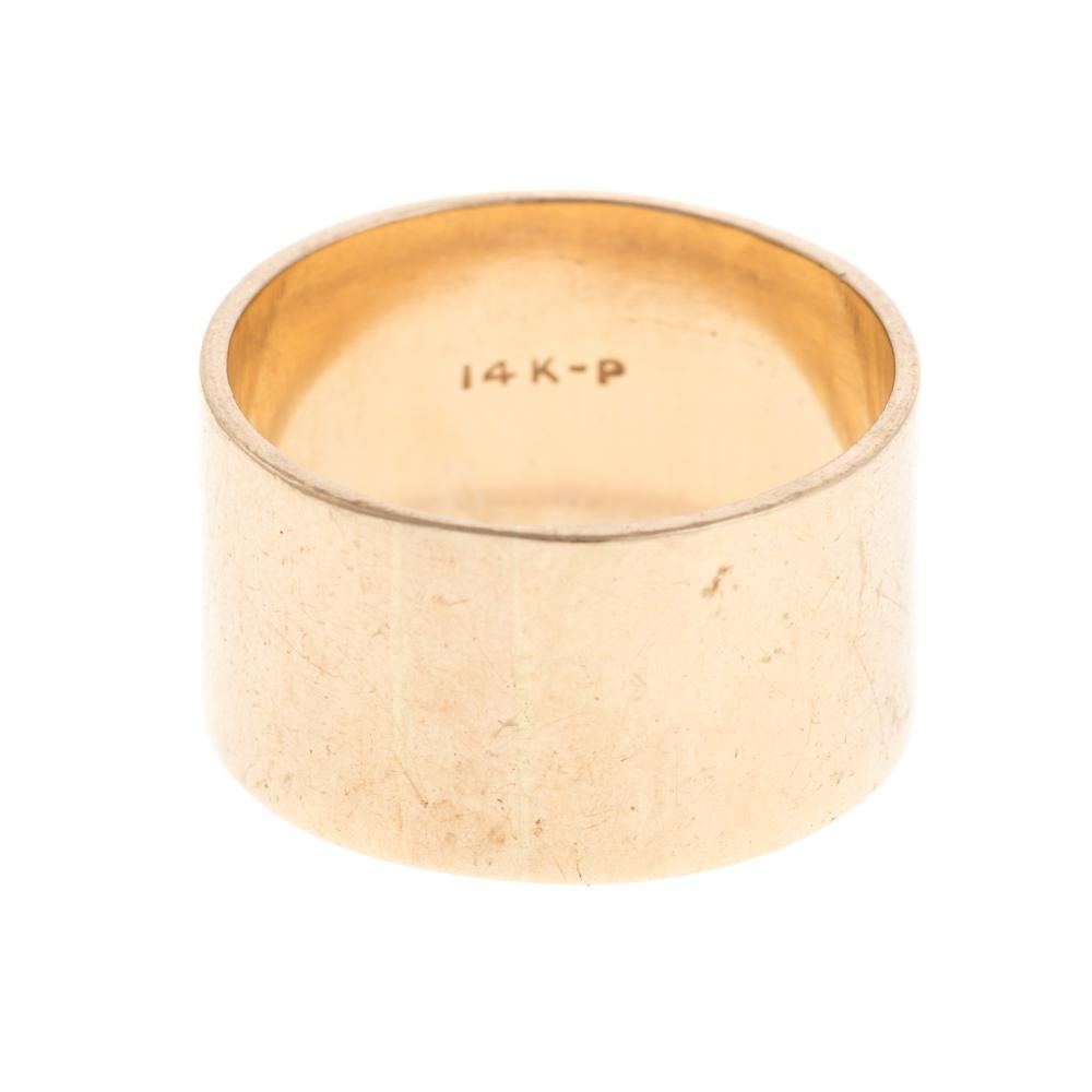 Lot 105: A Pair of Wide 14K Yellow Gold Bands