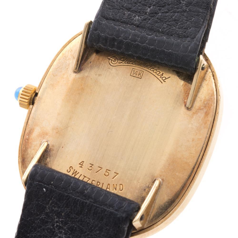 Lot 109: A Gent's 14K Lucien Piccard Wrist Watch