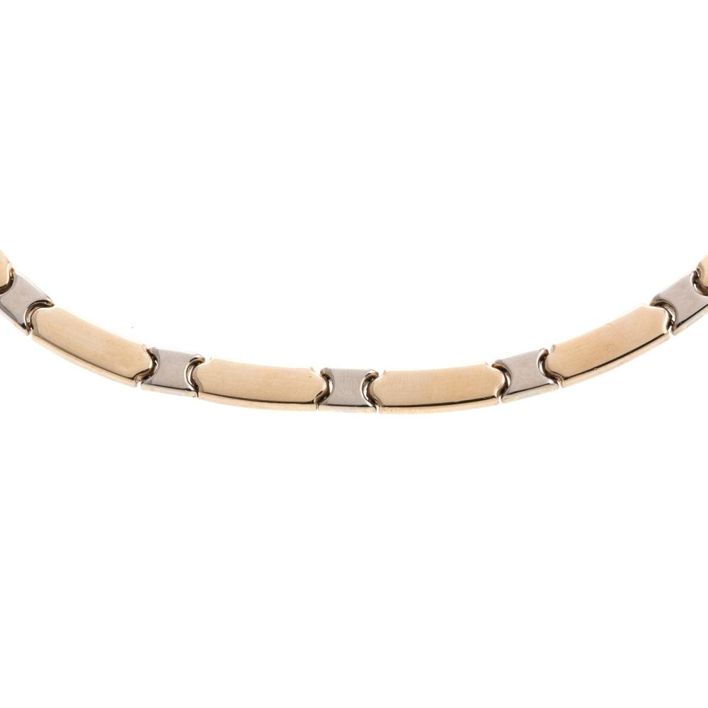 Lot 110: A Ladies 14K Two Toned Link Necklace