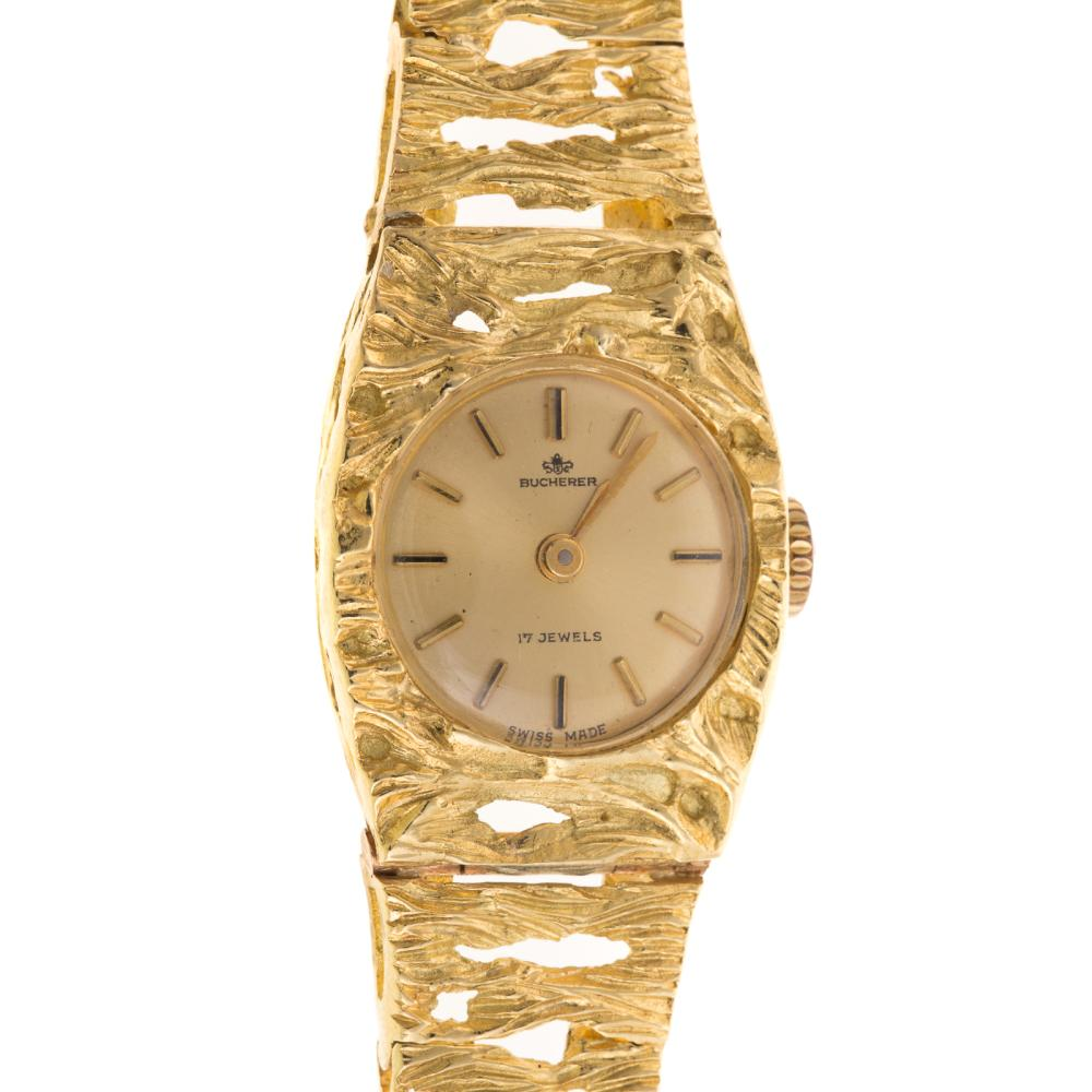 Lot 117: A Ladies Bucherer Dress Watch in 18K Gold
