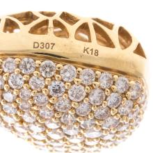 Lot 124: A Ladies 18K Pave Diamond Heart Pendant on Chain
