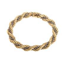 Lot 130: A Ladies Italian Rope Bracelet in 14K Gold