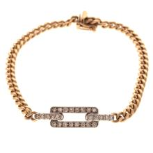 Lot 133: A Ladies Diamond Link Bracelet and Pendant in 14K