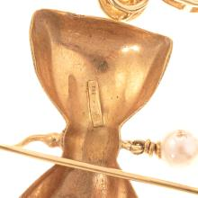Lot 145: A Trio of Ladies Gold & Pearl Earrings in Gold