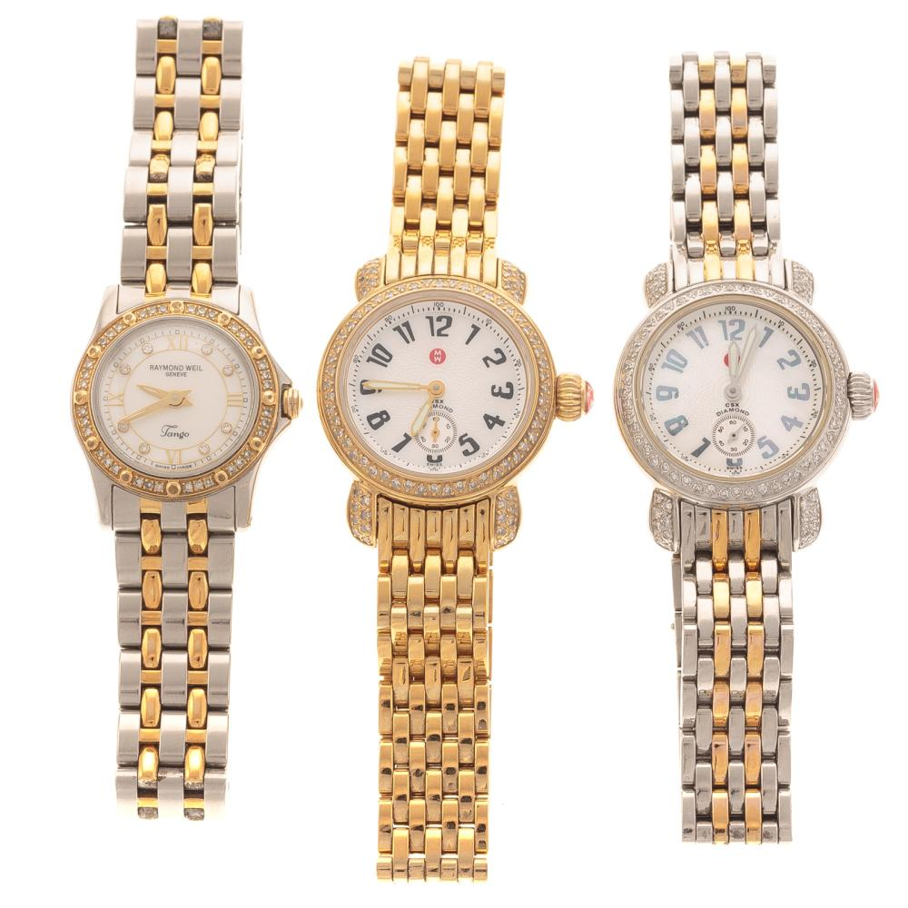 A Trio of Ladies Watches; Michelle & Raymond Weil