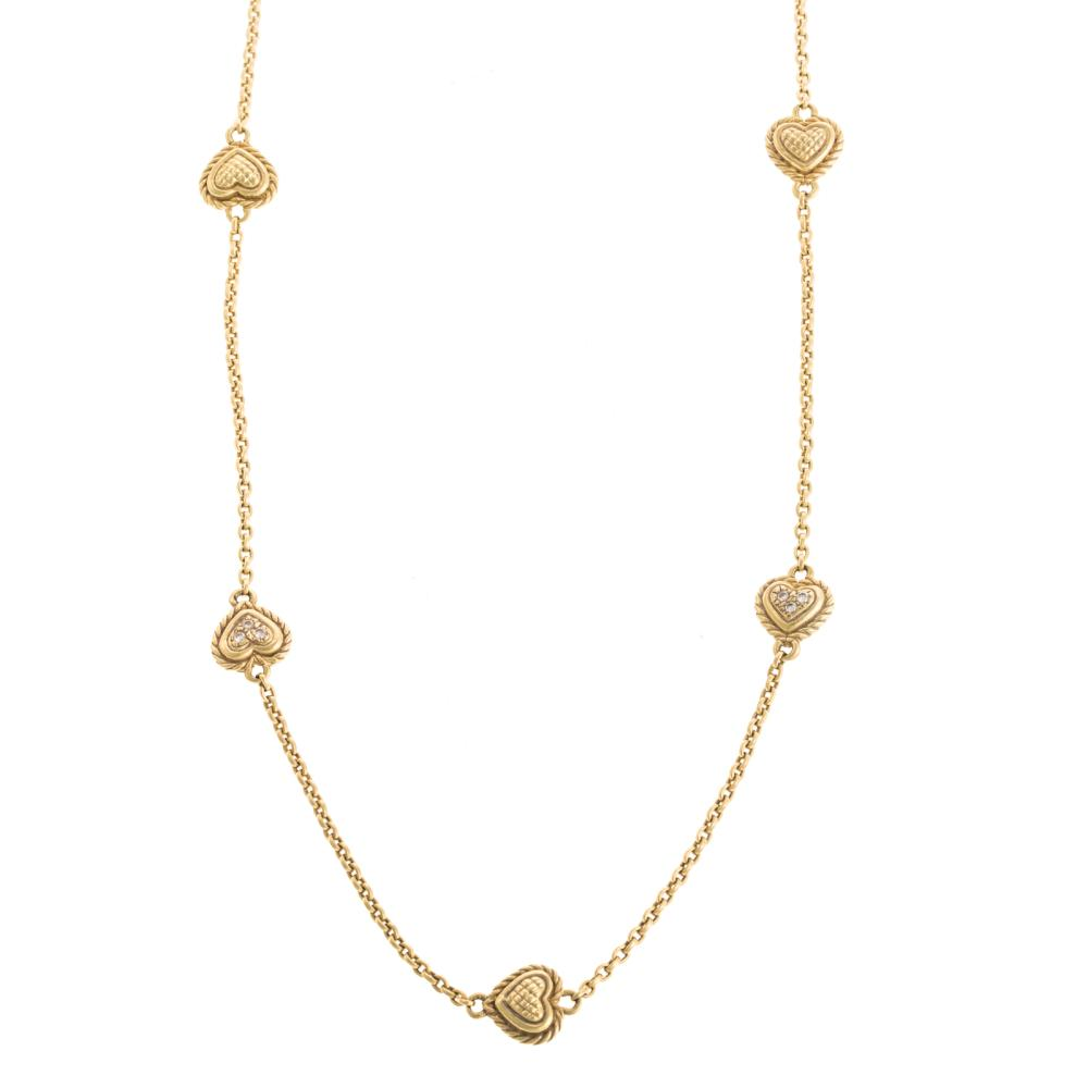 A Ladies J. Ripka Necklace with Diamonds in 18K