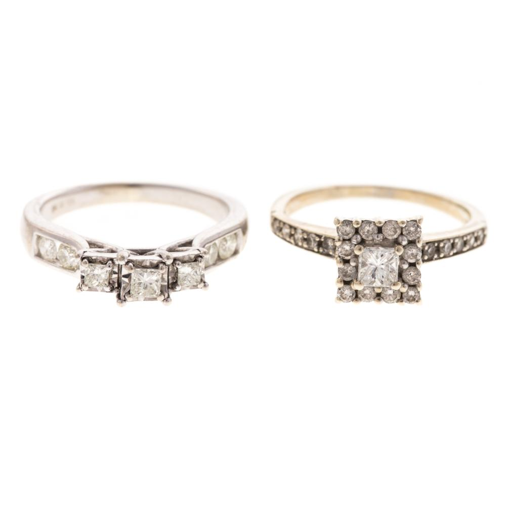 Two Ladies Diamond Rings in 14K & 10K Gold
